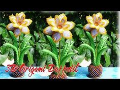 How To Make 3D Origami Daffodil Flower | DIY Paper Daffodil Flower Tutorial Home Decor - YouTube