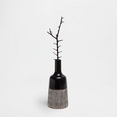 Image of the product BLACK STRIPED VASE