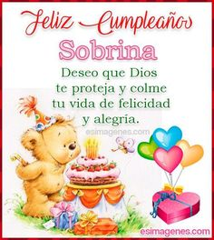 Spanish Birthday Wishes, Happy Birthday Clip Art, Happy Birthday Celebration, Happy Birthday Pictures, Happy Birthday Messages, Birthday Thank You, Birthday Blessings, Mothers Day Quotes, Happy B Day