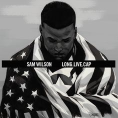 Sam Wilson, Captain America #1 Hip Hop Variant Cover Marvel decided to do some more hip hop variants so I jumped to the occasion again. This here is an homage to A$ap Rocky's Long Live A$ap album...