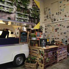 """Belgian buns are now part of the service at Paris garage-turned-café L'Improbable... """