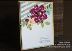 Stampin Up's Watercolor Wishes Card Kit Inspired, Watercolor Wishes, Crazy about You, Brushstrokes