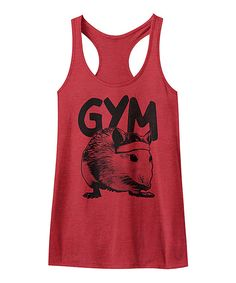 Look at this American Classics Red Heather Gym Rat Racerback Tank on #zulily today!