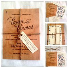 Wooden Wedding Invitation & hand drawn map.  Map. Wooden invitation. Rustic wedding. Outdoor wedding. Mammoth wedding.