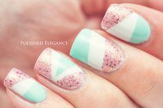 Tape manicure nail a
