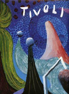 Abstract Tivoli Gardens Poster Art Print Book Plate by AngelGrace Vintage Botanical Prints, Vintage Art Prints, Pop Art Movement, Tivoli Gardens, David Hockney, Canvas Art Prints, Framed Canvas, Framed Prints, Amusement Park