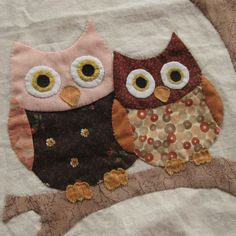 owls in tree...I'd like to use this idea to make a mini-quilt wall hanging for Shelby's room!