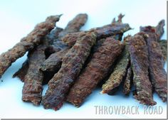 Homemade Beef Jerky - This is made from hamburger.  It is excellent... we make it every year.