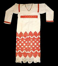 Россия.Рубаха женская праздничная. Лен.Вторая половина 19 века