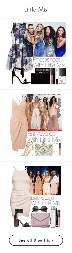 """Little Mix"" by lovatic92 ❤ liked on Polyvore featuring Forever 21, Ally Fashion, Alexandre Birman, Charlotte Olympia, Gucci, NARS Cosmetics, Miss Selfridge, Sergio Rossi, KOTUR and H&M"