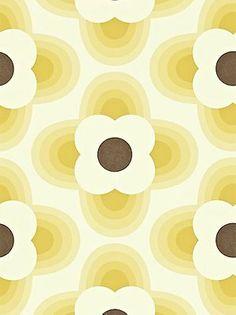 Orla Kiely House for Harlequin Striped Petal Wallpaper, Yellow, 110405