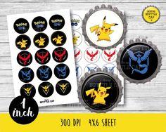 50% OFF SALE Pokeball teams-Pokemon bottlecap-1 inch Bottlecap-Printable…