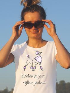 T-shirt ręcznie malowany z psem rasy pudel z napisem jaki tylko chesz https://pl.dawanda.com/shop/kejter