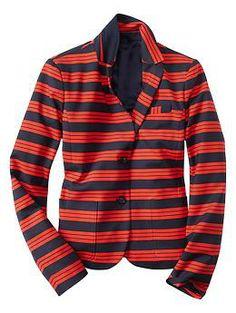 Stripe academy blazer   @Gap