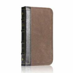 Antique leather book case cover Samsung Galaxy S4 IV I9500for protector defender designer wallet