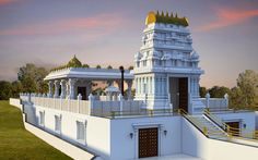 Balaji Temple Moring view at ISKCON Pune, NVCC