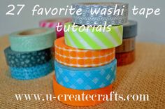 Washi Tape Tutorials Galore!