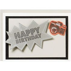 DIY Happy Birthday Camera Card - picture perfect for telling your favorite photo enthusiast Happy Birthday!