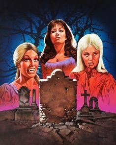 """The Karnstein Trilogy"" art by Jeff Preston Hammer Movie, Hammer Horror Films, Hammer Films, Female Vampire, Vampire Girls, Vampire Art, Gothic Horror, Horror Art, Horror Movies"