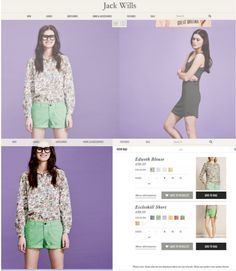 Jack Wills shoppable content