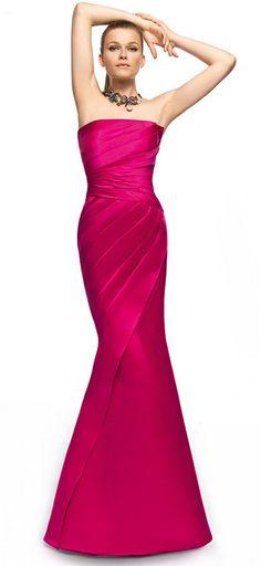 hot pink long dress