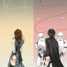 Cute Kylo Ren/Ben Solo and Rey. Reylo