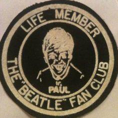 Beatles Fan Club patch, Paul