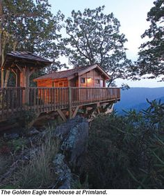 The Golden Eagle treehouse at Primland.