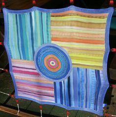 unique hand painted silk scarf  20x20inch 52x52cm  silk