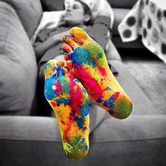 Colourful feet!