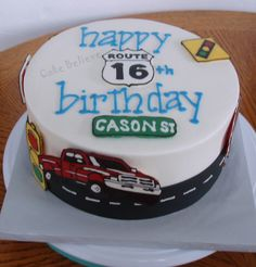 Sixteen Boy Birthday Cake 16 yr old boys cake Recipes