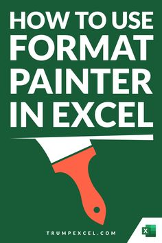 Excel Format Painter allows you to quickly copy formatting from any cell or range of cells and paste in any other location. It's an amazing tool that can save you a lot of time. It also allows you to quickly copy conditional formatting and paste it in a different range of cells. In this article, I cover how you can activate and use format painter in Excel Computer Basics, Computer Help, Computer Programming, Excel For Beginners, Excel Hacks, Pivot Table, Microsoft Excel, Business Advice, Accounting