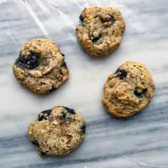 Blueberry Breakfast Cookies Blueberry Breakfast, Blueberry Bread, Breakfast Cookies, Grass Fed Gelatin, Gluten Free Blueberry, Post Workout Snacks, Cravings, Brunch, Healthy Recipes
