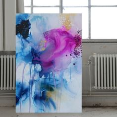 Abstract art by Mette Lindberg: Acrylic on canvas. // Akrylmaleri af Mette Lindberg
