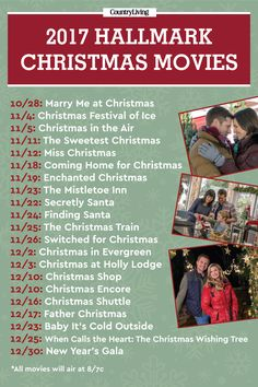Save the Hallmark Christmas movies schedule for later by pinning this image, and follow Country Living on Pinterest for more.
