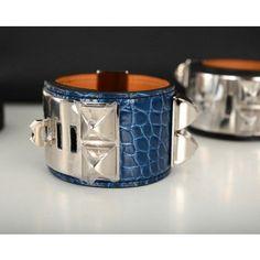 faux ostrich leather handbags - Hermes Collier De Chien CDC Brown Belt Palladium Silver Hardware