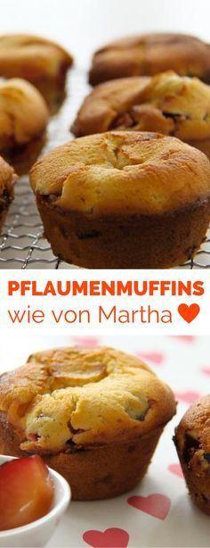 Pflaumenmuffins wie von Martha Stewart. Ein ganz einfaches Muffins Thermomix Rezept - geht auch mit anderen Obstsorten. Sehr saftig und wirklich lecker.