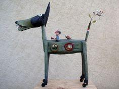 loup,assemblages,sculpture,gérard collas
