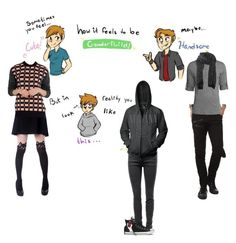 """""""Gender Fluid"""" by kyle-senpai ❤ liked on Polyvore featuring Identity, Marni, Current/Elliott, Chicnova Fashion and Converse"""