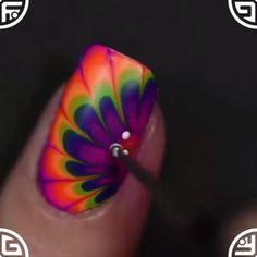 Hоw tо show уоur creativity? Tо paint уоur nails iѕ tо show оff уоur. Nail Art Hacks, Nail Art Diy, Cool Nail Art, Diy Nails, Nail Art Designs Videos, Nail Art Videos, Nail Designs, Bright Summer Acrylic Nails, Cute Acrylic Nails