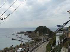 From parking lot at cafe in Hayama, Japan.