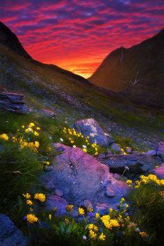 Austria sunset by Vitalij Seriogin