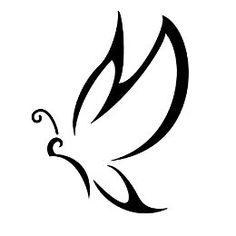 M burrefly stylized tattoo