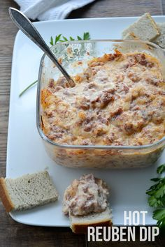 Get ready for Oktoberfest with this yummy Hot Reuben Dip. Serve with chunks of rye bread or crackers for one crowd pleasing dip everyone will love! Oktoberfest Party, Oktoberfest Hairstyle, Reuben Dip, Appetizer Dips, Appetizer Recipes, German Appetizers, Dip Recipes, Cooking Recipes, Group Recipes