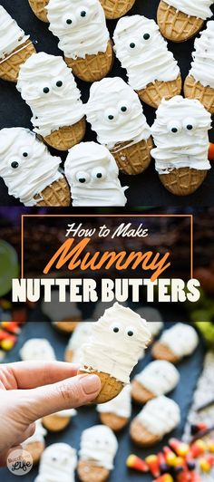 7 Insanely Cool Halloween Treats That You Can Actually Make treats nutter butter Dip Nutter Butters in candy melts for an insanely cute three-ingredient dessert. Halloween Desserts, Scary Halloween Treats, Dulces Halloween, Bonbon Halloween, Postres Halloween, Spooky Treats, Halloween Goodies, Halloween Food For Party, Halloween Candy