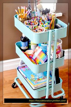 Toy Storage IKEA Hacks the Kids Will Want To Use are waiting for you to check ou. Toy Storage IKEA Hacks the Kids Will Want To Use are waiting for you to check out! Start The year our organized! Ikea Storage, Storage Hacks, Bedroom Storage, Storage Ideas, Craft Storage, Storage Cart, Makeup Storage, Playroom Storage, Budget Storage