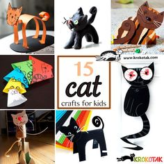 15 cat crafts for kids
