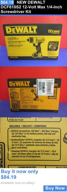 tools: New Dewalt Dcf610s2 12-Volt Max 1/4-Inch Screwdriver Kit BUY IT NOW ONLY: $84.19