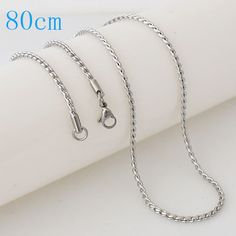 """Stainless Steel Snake Ball Chain 80cm (approx. 31.5"""")"""