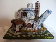 Quarter scale miniature teapot scene on Ebay.